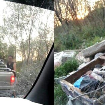 Riobravense sorprende a personas tirando basura en terreno baldío