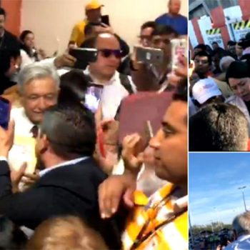 López Obrador llega a Reynosa para presentar programa fronterizo