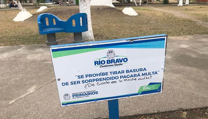 """Plaza """"Los Enamorados"""" de Río Bravo, necesita rehabilitación urgente"""
