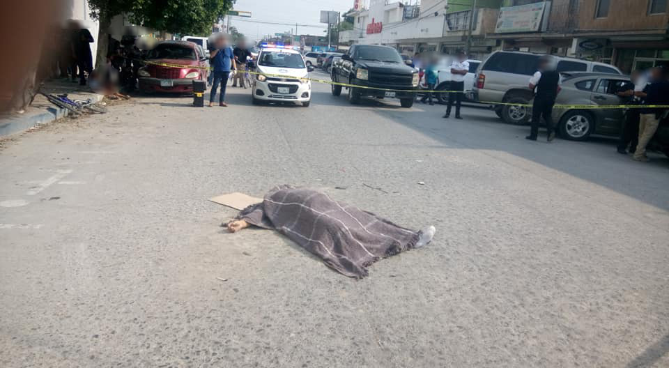Embarazada muere atropellada en Río Bravo