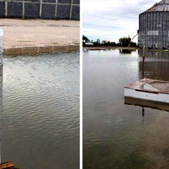 Hasta casi 5 pulgadas de agua por lluvias en Río Bravo