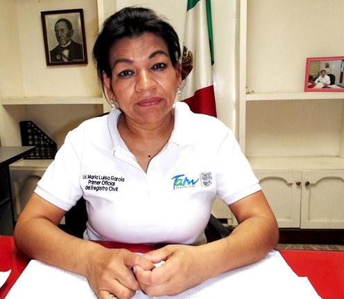 María Luisa García Martínez, titular del Registro Civil de Río Bravo.
