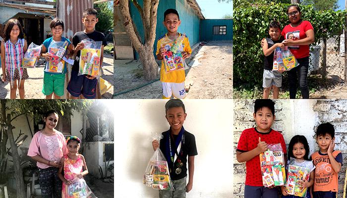Entregan útiles escolares a 25 niños de Río Bravo y Nuevo Progreso