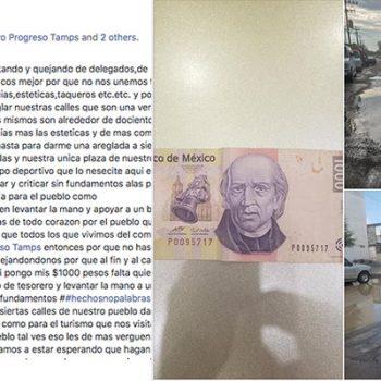 Ciudadano de Nuevo Progreso invita a comerciantes a colecta para pavimentar las calles