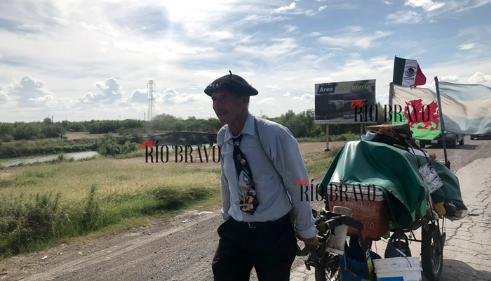 Don Martín viaja desde Argentina hasta Alaska y pasa por Río Bravo
