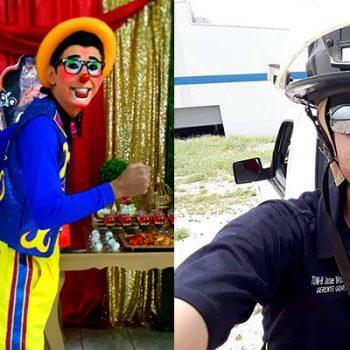 """Josué """"Tubito"""" Macías, alma de payasito corazón de bombero."""