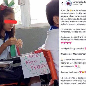 Compañeros de escuela humillan a niña por vender moños a 5 pesos en Matamoros