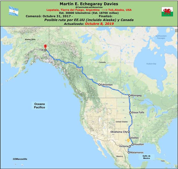 Mapa de trayectoria de Estados Unidos hacia Alaska de Martin E. Echegaray Davies