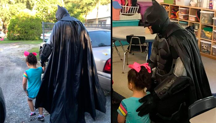 """""""Batman"""" defiende a niña víctima de bullying, de compañeros abusivos"""
