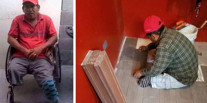Albañil discapacitado busca trabajo para sacar adelante a su familia