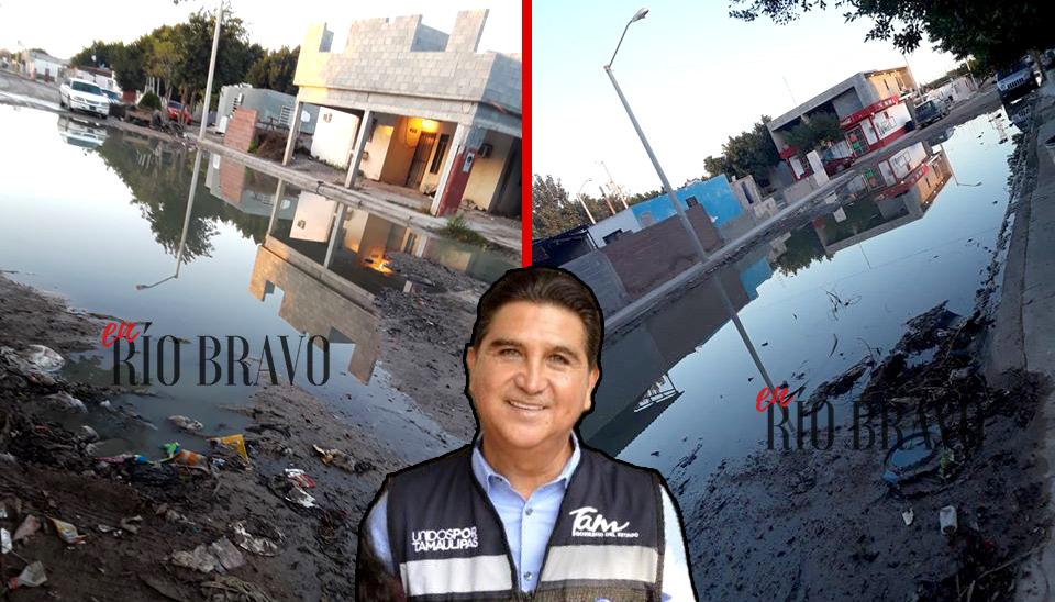 Continúan las denuncias en el Fraccionamiento Azteca por lagunas de aguas negras - Raúl García Vivián