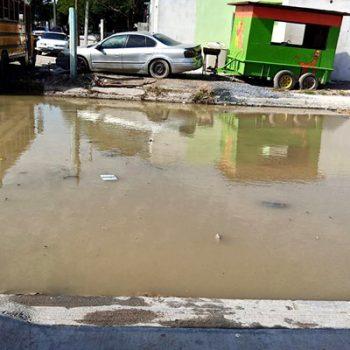 Denuncian 'obra' inconclusa en Fraccionamiento Azteca en Río Bravo