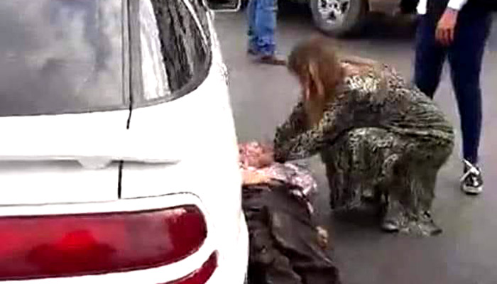 Alcaldesa Maki Ortiz auxilia a un atropellado en plena vía pública