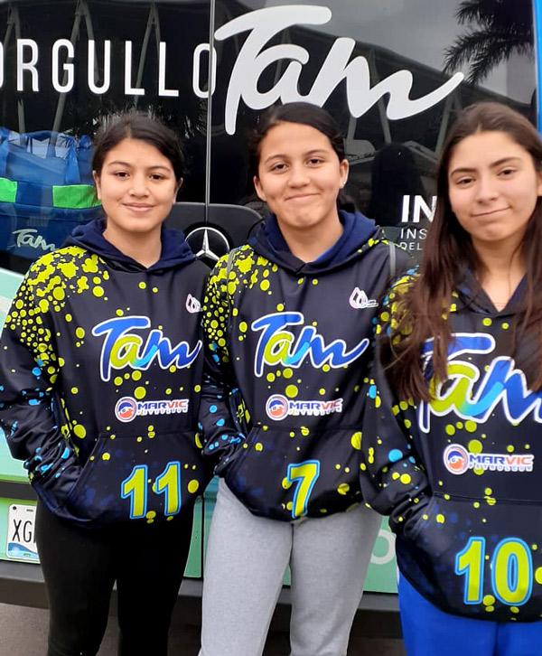 Fabiola Cortez, Valeria Regino y Shopia Menchaca
