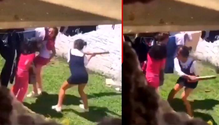 Mujer golpea brutalmente a dos niñas pequeñas con un barrote (VIDEO)