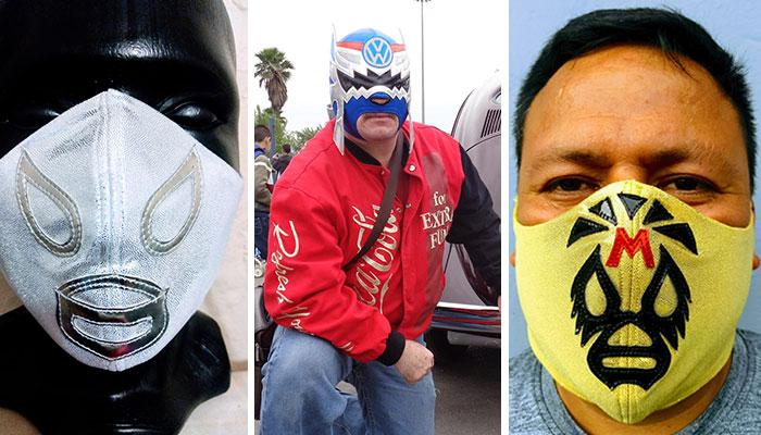 Adán Ivan Rangel Contreras fabrica cubrebocas de mascaras de luchador