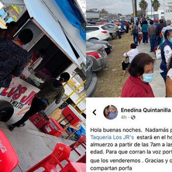 Taquería de Río Bravo dará almuerzos a abuelitos que se vacunen