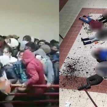 Universitarios de la UPEA rompen barandal de cuarto piso