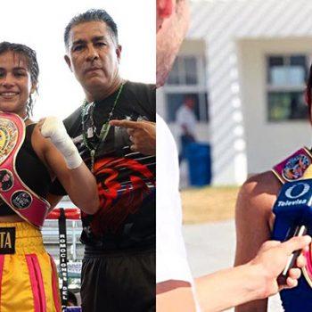 Ana Cristina, la primera boxeadora profesional de Río Bravo