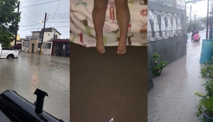 Tormenta eléctrica causa severas inundaciones en Río Bravo