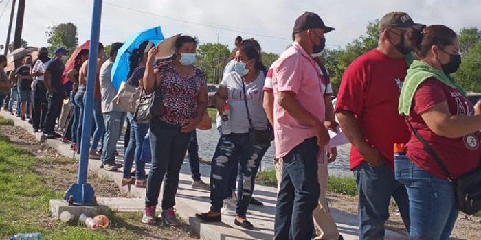 Último día de vacunación a población de 40 a 49 años en Río Bravo