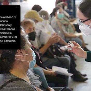 Este martes llegan vacunas a la frontera, para población de 18 a 39 años