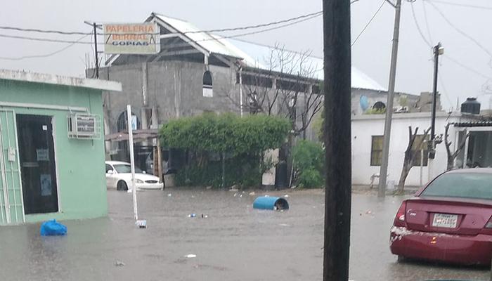 Tormenta inunda colonias de Río Bravo