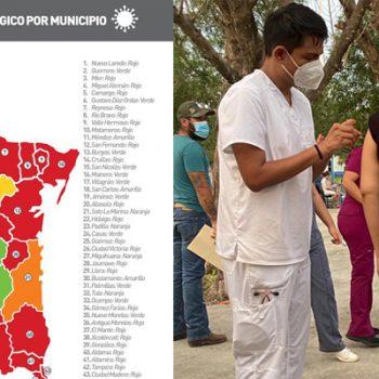 Río Bravo y Reynosa, vuelven al semáforo rojo por alza en contagios